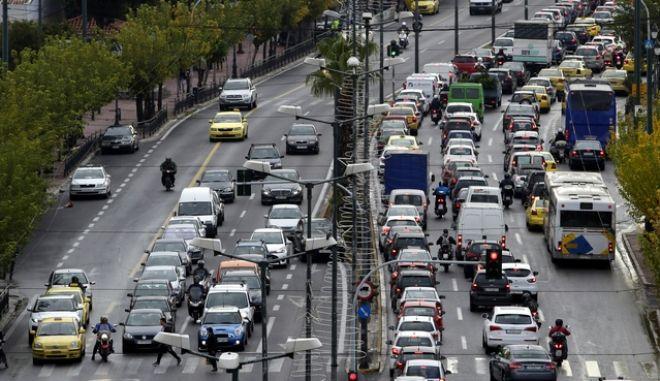 Κυκλοφοριακή συμφόρηση στην Αθήνα