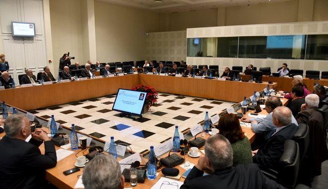 Στιγμιότυπο από την 86η σύνοδο των πρυτάνεων των Ελληνικών Πανεπιστημίων,παρουσία του υπουργού παιδείας Κωνσταντίνου Γαβρόγλου, Σάββατο 16 Δεκεμβρίου 2017 (EUROKINISSI/TATIANA ΜΠΟΛΑΡΗ)