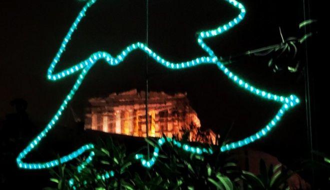 Στιγμιότυπο από την Αθήνα το βράδυ της Τρίτης 27 Δεκεμβρίου 2016. (EUROKINISSI/ΓΙΩΡΓΟΣ ΚΟΝΤΑΡΙΝΗΣ)