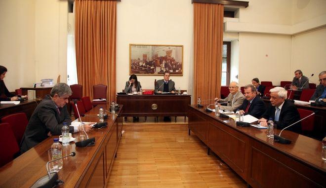 Η Ειδική Μόνιμη Επιτροπή Θεσμών και Διαφάνειας συνεδριάσε: Ακρόαση του Προέδρου της Αρχής Καταπολέμησης της Νομιμοποίησης Εσόδων από Εγκληματικές Δραστηριότητες και της Χρηματοδότησης της Τρομοκρατίας και Ελέγχου των Δηλώσεων Περιουσιακής Κατάστασης, Παναγιώτη Νικολούδη (φωτογραφία).(EUROKINISSI-ΓΙΑΝΝΗΣ ΠΑΝΑΓΟΠΟΥΛΟΣ)