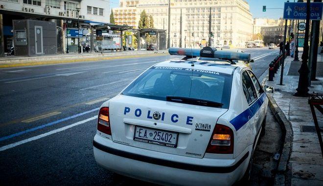 Περιπολικό της αστυνομίας στο κέντρο της Αθήνας