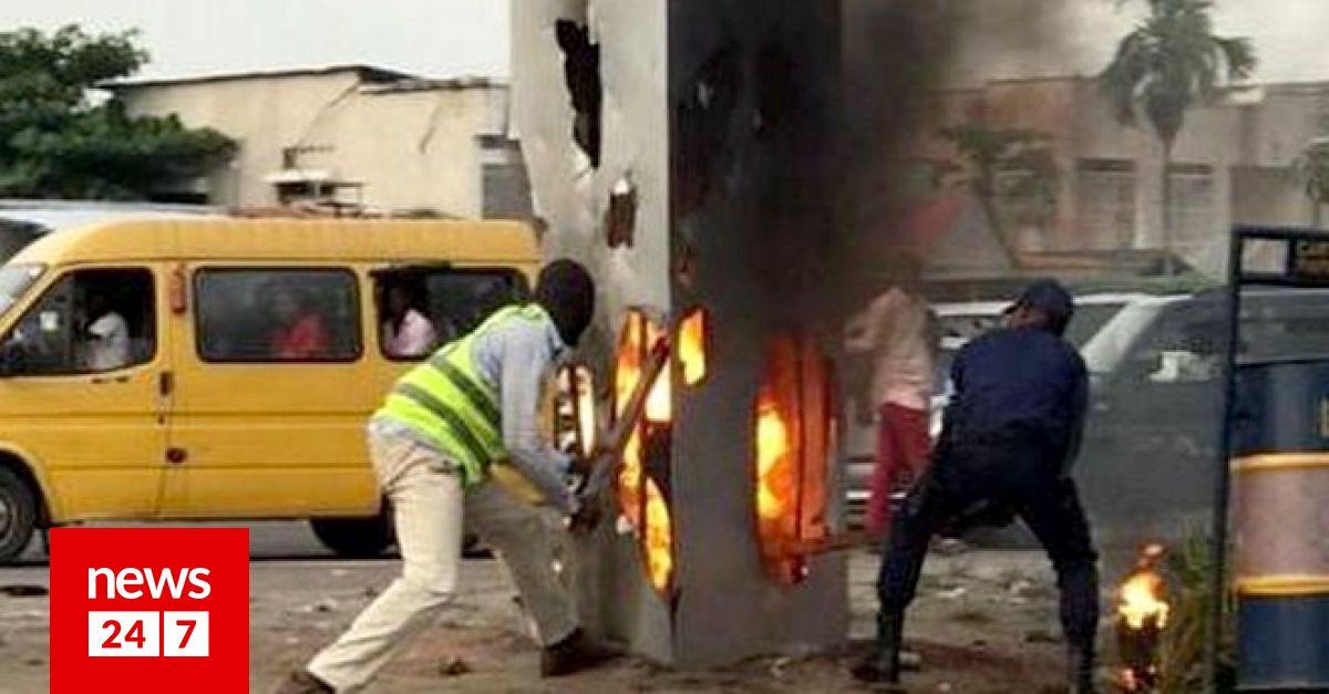 Αντίο μονόλιθε: Έφτασε και στο Κονγκό αλλά του έβαλαν φωτιά – Κόσμος