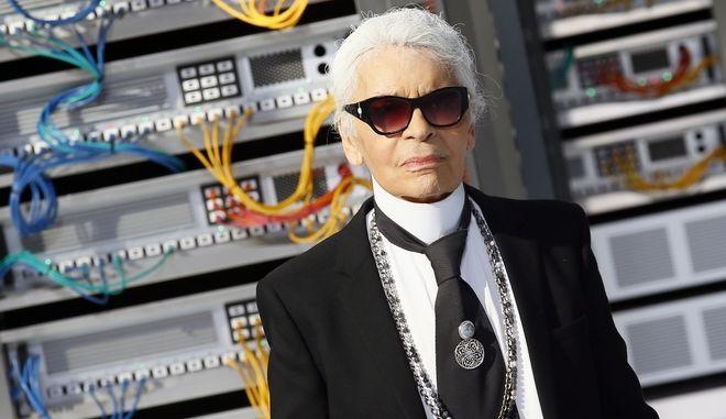 Ο σχεδιαστής μόδας Karl Lagerfeld