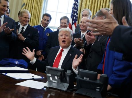 21c5c76993aa President Donald Trump speaks in the Oval Office of the White House in  Washington