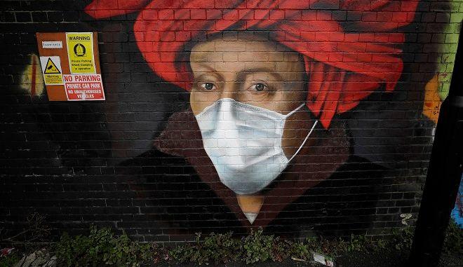 Γκράφιτι για τον κορονοϊό στο Λονδίνο