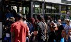 Συνωστισμός στα λεωφορεία