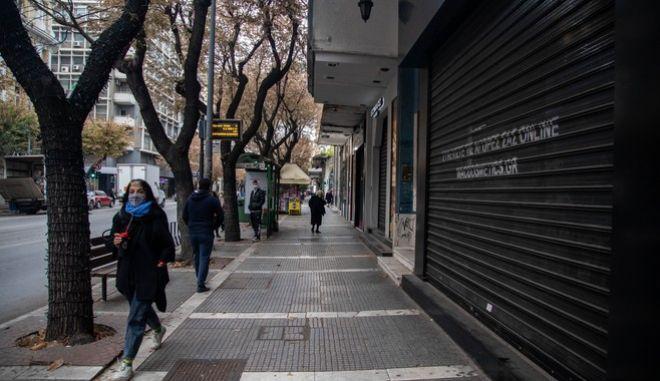 Κλειστά καταστήματα λόγω lockdown στην Θεσσαλονίκη