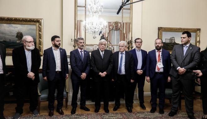 Συνάντηση του Προκόπη Παυλόπουλου με αντιπροσωπεία της Παμποντιακής Ομοσπονδίας Ελλάδας