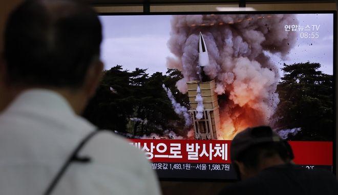 Η Βόρεια Κορέα προχώρησε στην εκτόξευση δύο βλημάτων αγνώστου τύπου