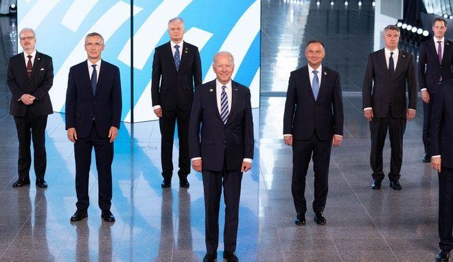 Ηγέτες χωρών - μελών στα κεντρικά γραφεία του ΝΑΤΟ