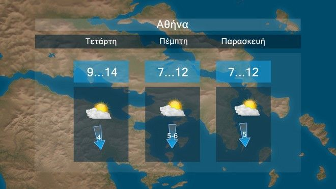 Πτώση θερμοκρασίας τις επόμενες μέρες - Έρχονται βροχές και νοτιάδες