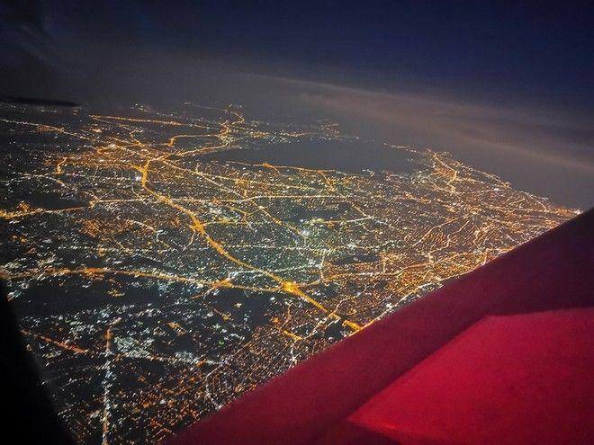 Νυχτερινές φωτογραφίες από πιλότο C130 που έκανε αεροδιακομιδή απο το Αργοστόλι