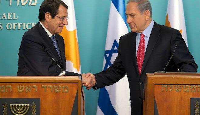 Ο Πρόεδρος της Κύπρου Νίκος Αναστασιάδης, με τον Ισραηλινό Πρωθυπουργό Μπέντζαμιν Νετανιάχου, Ιερουσαλήμ, 15 Ιουνίου 2015.