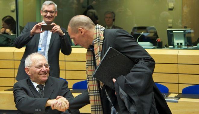 Στιγμιότυπο από την έκτακτη σύνοδο του Eurogroup στις Βρυξέλλες την Τετάρτη 11 Φεβρουαρίου 2015. (EUROKINISSI/ΕΥΡΩΠΑΪΚΗ ΕΝΩΣΗ)