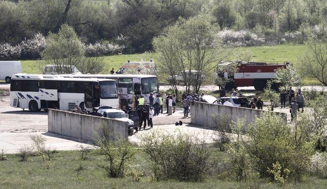 Λεωφορείο τυλίχτηκε στις φλόγες