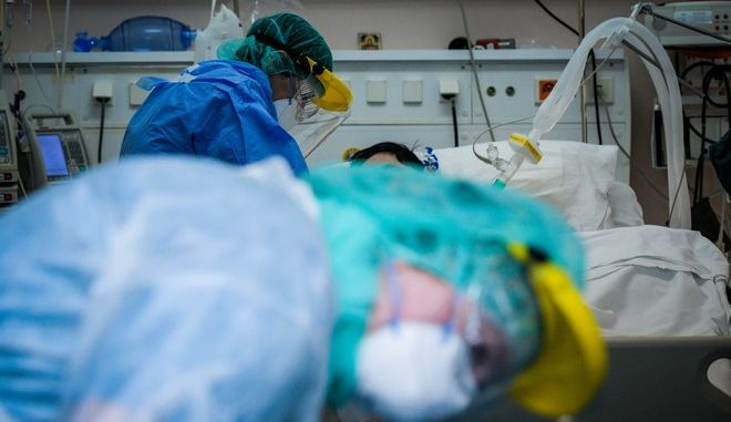 Εικόνα από ΜΕΘ σε νοσοκομείο της Αττικής