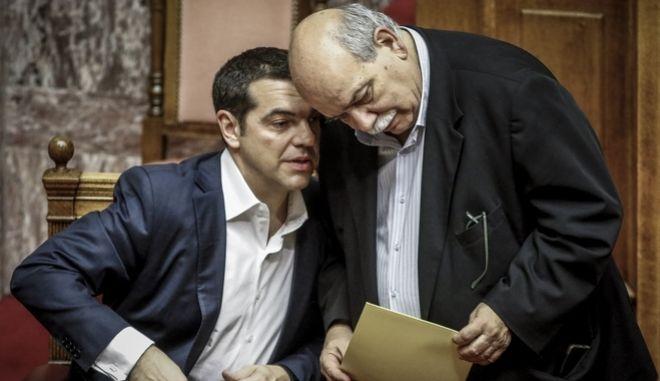 Ο Αλέξης Τσίπρας μαζί με τον Νίκο Βούτση