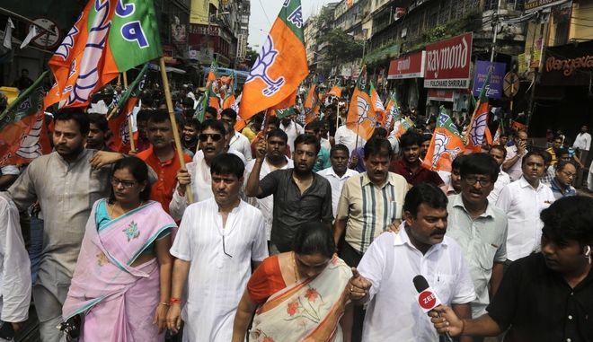 Εικόνα αρχείου από ακτιβιστές στην Ινδία