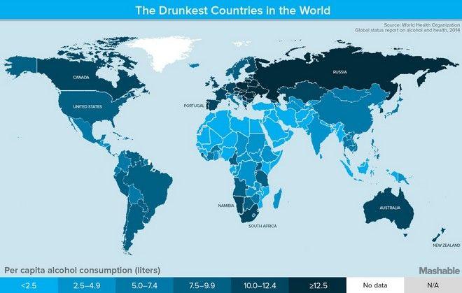 Οι πιο μεθυσμένες χώρες στον κόσμο