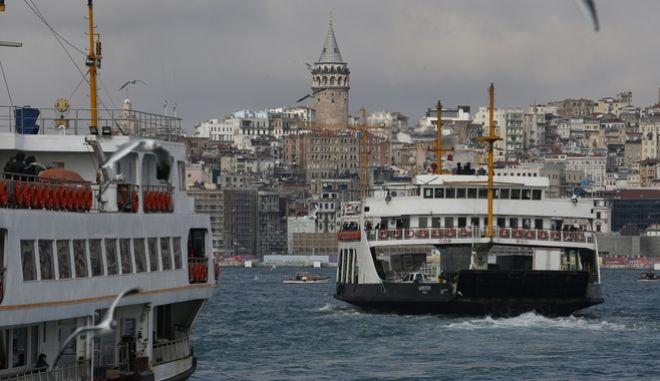 Στιγμιότυπο από το Βόσπορο στην Κωνσταντινούπολη