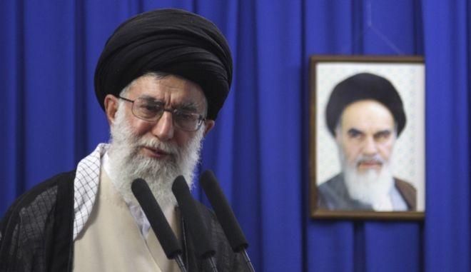 Ο ανώτατος θρησκευτικός ηγέτης του Ιράν, αγιατολάχ Αλί Χαμενεΐ,