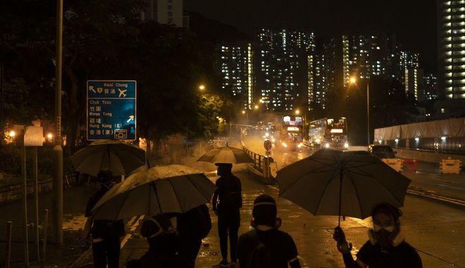 Εικόνα από τα επεισόδια στο Χονγκ Κονγκ