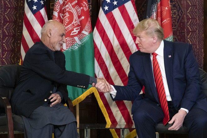 Ο Τραμπ συναντήθηκε με τον Αφγανό πρόεδρο Ασράφ Γκάνι