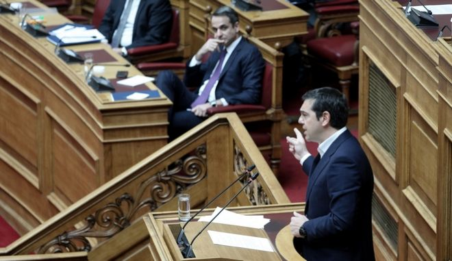 Ο πρόεδρος του ΣΥΡΙΖΑ, Αλέξης Τσίπρας. (EUROKINISSI/ΓΙΑΝΝΗΣ ΠΑΝΑΓΟΠΟΥΛΟΣ)