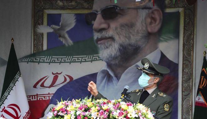 Η κηδεία του ιρανού πυρηνικού επιστήμονα Φαχριζαντέχ