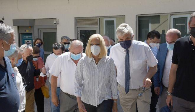 Η Πρόεδρος του Κινήματος Αλλαγής Φώφη Γεννηματά επισκέφτηκε τις πληγείσες από τις πρόσφατες πυρκαγιές περιοχές του Δήμου Βιλίων.
