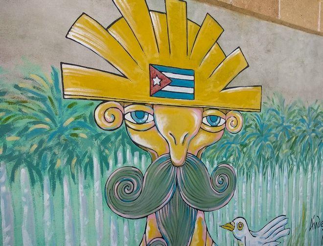 Γκράφιτι που εικονίζει το Χοσέ Μαρτί, στη Σαντα Κλάρα