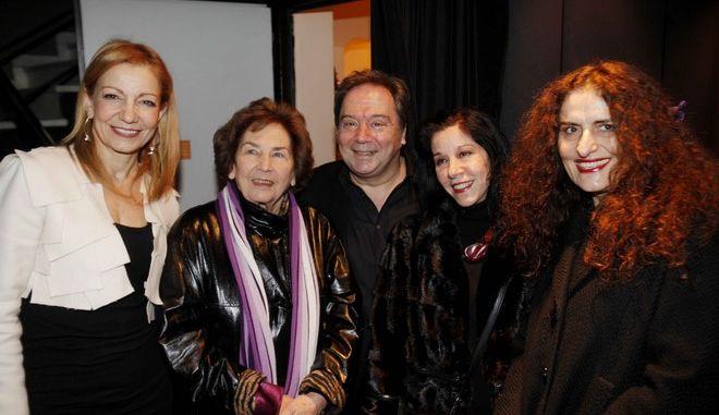 """Φωτογραφία από τα θεατρικά βραβεία  """"Δημήτρης Χορν"""" και """"Μελίνα Μερκούρη'' το 2010"""