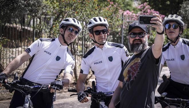 Αστυνομικοί με ποδήλατα στην περιοχή της Ακρόπολης