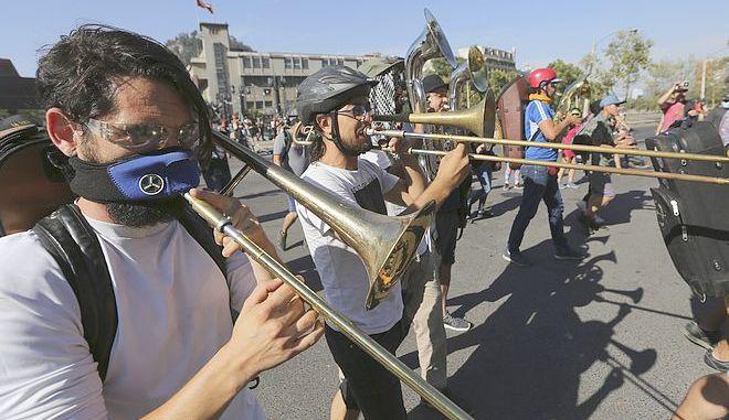 Μουσικοί στους δρόμους του Σαντιάγο