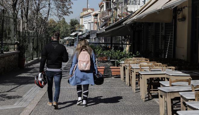 Κλειστά καταστήματα, στα πλαίσια των μέτρων για την εξάπλωση του κορονοϊού