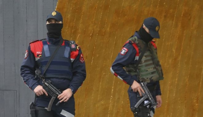 Άνδρες των ειδικών δυνάμεων της αλβανικής αστυνομίας
