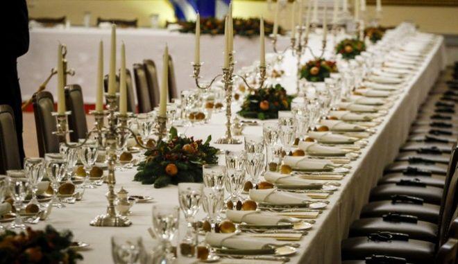 Επίσημο δείπνο από τον Πρόεδρο της Δημοκρατίας, Προκόπη Παυλόπουλο στον Τούρκο ομόλογό του Ρετζέπ Ταγίπ Ερντογάν την Πεμπτη 7 Δεκεμβρίου 2017, στο Προεδρικό Μέγαρο. (EUROKINISSI/ΓΙΩΡΓΟΣ ΚΟΝΤΑΡΙΝΗΣ)