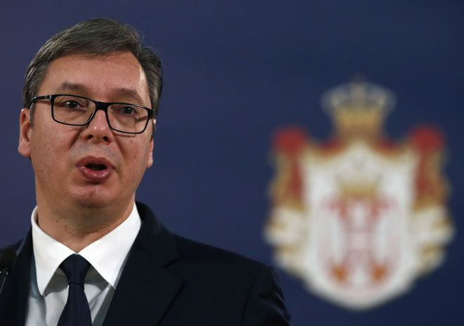 Ο Πρόεδρος της Σερβίας, Aleksandar Vucic