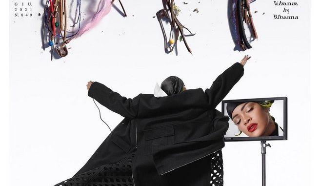 """""""Do It Yourself"""": Η Ριάνα βάφτηκε, ντύθηκε και φωτογραφήθηκε μόνη της για τη Vogue"""