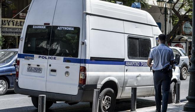Ανακριτικό φορτηγάκι της Τροχαίας. Σάββατο 29 Ιουλίου 2017(EUROKINISSI/ΛΥΔΙΑ ΣΙΩΡΗ)