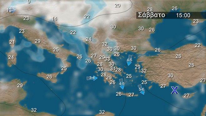 Καιρός: Με τοπικές βροχές και ανέμους έως 6 Μποφόρ