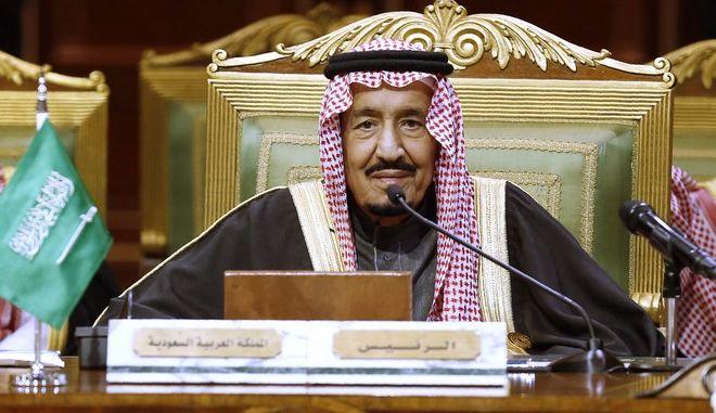 Ο βασιλιάς Σαλμάν της Σαουδικής Αραβίας