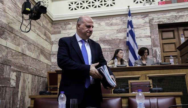 Ο υπουργός Δικαιοσύνης Κώστας Τσιάρας