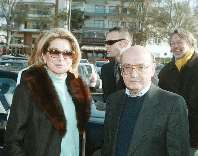 Ο Θ. Αγγελόπουλος μαζί με την Κατρίν Ντενέβ