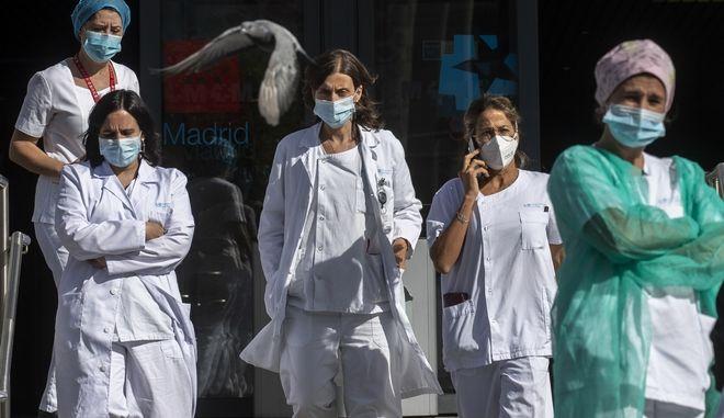 Νοσηλεύτριες σε νοσοκομείο της Μαδρίτης