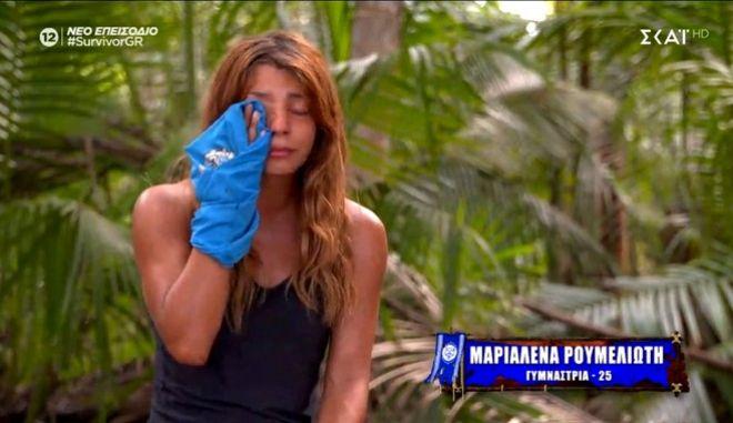 "Survivor 4: Πλάνταξε η Μαριαλένα για τον Σάκη - ""Μου πήρανε το γούρι μου"""
