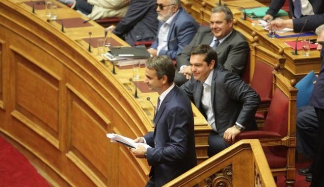 Προ ημερησίας διατάξεως συζήτηση για τη διαφθορά και τη διαπλοκή στη Βουλή, την Δευτέρα 10 Οκτωβρίου 2016.  (EUROKINISSI/ΣΤΟΛΗΣ ΠΑΝΑΓΙΩΤΗΣ)