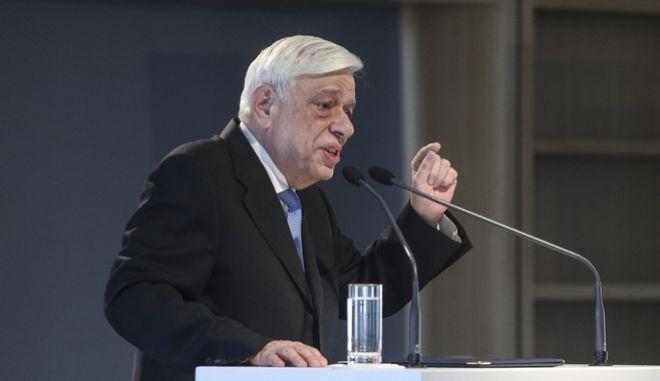 """Ο Προκόπης Παυλόπουλος κατά την ομιλία του στο φόρουμ """"Ελλάδα: Οι δρόμοι της Ελπίδας"""""""