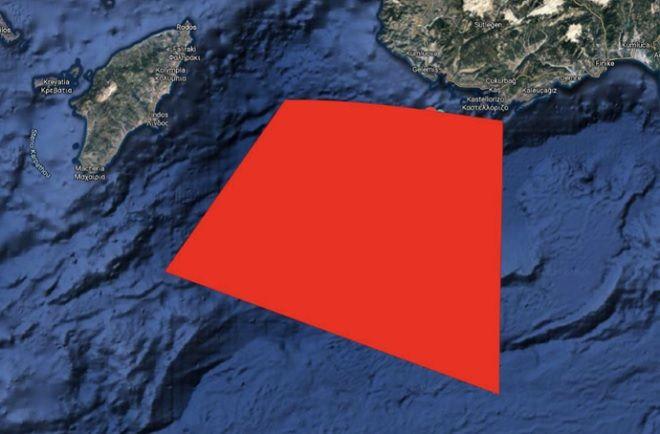 Τουρκική Navtex μεταξύ Ρόδου και Καστελόριζου