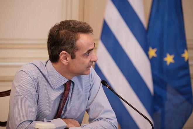 Συνεδρίαση του υπουργικού συμβουλίου με τηλεδιάσκεψη την Τρίτη 24 Μαρτίου 2020. (EUROKINISSI/ΓΡΑΦΕΙΟ ΤΥΠΟΥ ΠΡΩΘΥΠΟΥΡΓΟΥ/ΔΗΜΗΤΡΗΣ ΠΑΠΑΜΗΤΣΟΣ)